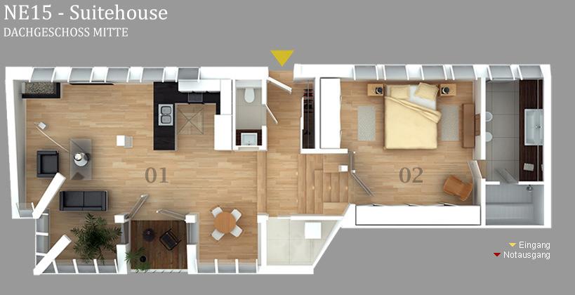 Grundriss NE15 Suitehouse